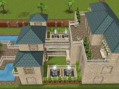 House 24 full view (side) #sims #simsfreeplay #simshousedesign