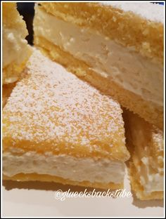 Lemon mascarpone slices - Lemon mascarpone slices – happy bakery Informations About Zitronen-Mascarpone-Schnitten Pin You ca - Easy Baking Recipes, Baby Food Recipes, Cake Recipes, Baking Set, Baking With Kids, Apple Cider Donuts, Baking Supplies, Food Cakes, No Bake Desserts