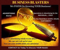 New Advertising Agency For Entrepreneurs  If you are not a brick and mortar business you know it's hard  to find an advertising agency to even email you back, let alone  help you. Now there is Business Blasters that can help you no  matter what your budget is, even if your budget is zero.  Visit Business Blasters now! http://wu.to/ciFoUs