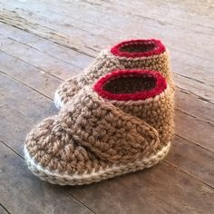 Crochet PATTERN. Oxford baby booties. Instant by ShowroomCrochet