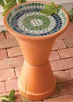 Mosaic Bird Bath to make