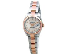 18k Rose Gold and Stainless Steel. Silver Diamond Dial. #179161