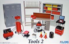 Fujimi GT26 113715 Garage & Tool Series Tools No.2 1/24 Scale Kit #Fujimi