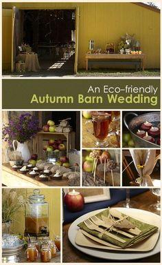 Eco-friendly Wedding Ideas - An Autumn Barn Wedding - WebstaurantStore Restaurant Supplies Blog