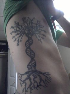 My own personal tree of life, looking to get some knowledge-inspired foliage on my other side here shortly :]