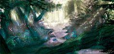 #silvia #dona #forest #fantasy #concept #environment