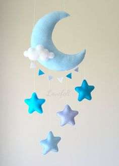 Baby moon mobile moon mobile star mobile by lovefeltmobiles - Room . - Aktivite kitapları - Baby moon mobile moon mobile star mobile by lovefeltmobiles – Room manualidades - Star Mobile, Felt Mobile, Mobile Mobile, Cloud Mobile, Baby Crafts, Felt Crafts, Diy And Crafts, Baby Mond, Sewing Projects