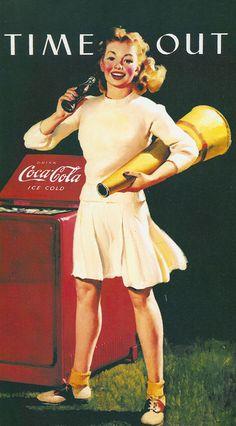 Coca cola 1944 #GeneraciónBY #Cartelismo #Vintage