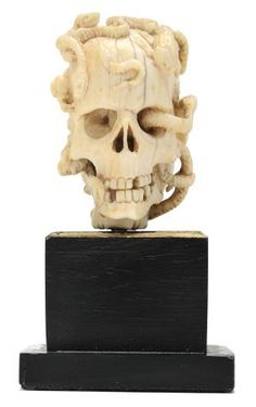Unknown Artist (German ?), Memento Mori Ivory Janus Head, ca. 1600, Ivory, Bowdoin College Museum of Art, Brunswick, Maine