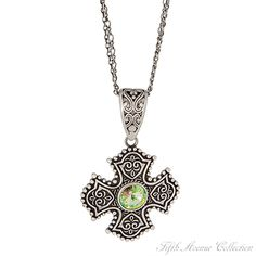 Antique Celtic cross finished in antique silver, from Fifth Avenue Collection.