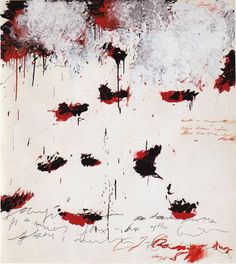 Cy Twombly, Petals Of Fire, 1989 / Acrylic Paint, Oil Stick, Pencil, Colour Pencil: 144 × 128 cm.
