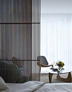Bedroom Ideas | Monochrome Color | Modern Architecture | Decorative Screen | Home Design