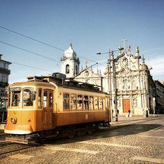 "oportocool: ""A tram ride is one of the best ways to experience the city #porto #oportocool #cool #city #citybreak #travel #urban #igers_porto (em Igreja do Carmo) "" 1756-1768 Igreja do Carmo / Igreja..."