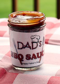 Homemade BBQ Sauce for Dad that kids can make.