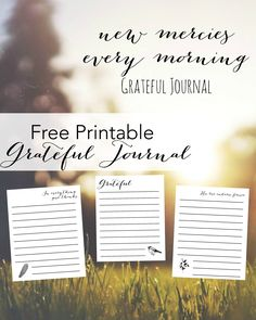 Free Printable Gratitude Journal! #freeprintable