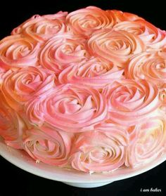 Learn how to make beautiful roses on your cake ...Rose Cake Tutorial at http://iambaker.net/rose-cake-tutorial/