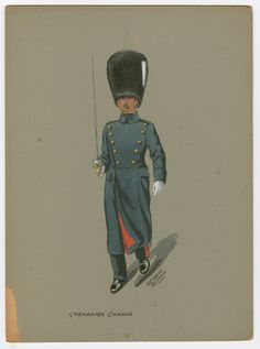 Grenadier Guards, after 1902 Military Art, Military History, Edwardian Era, Victorian, Red Coats, British Uniforms, British Armed Forces, British Army, Napoleon