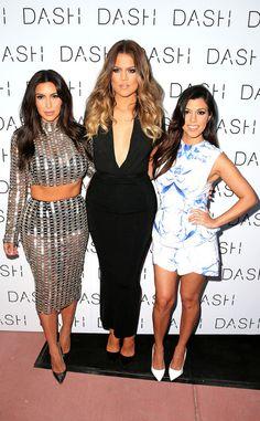 Kim, Khloe, Kourtney Kardashian.