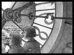 """Brian Selznick tells the story largely through his illustrations in """"The Invention of Hugo Cabret. Hugo Cabret, Read Aloud Books, Secret House, Children's Book Illustration, Book Illustrations, Exhibition, Expositions, Children's Literature, Silent Film"""