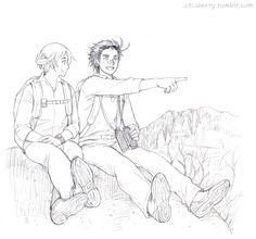 Simon (head-canon name for New Zealand) and Ralph (head-canon name for Australia) - Art by ctcsherry.tumblr.com