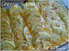 The Rickett Chronicles: Recipe: Cheesy Squash