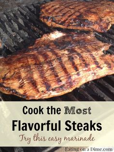 The Best Steak Marinade - only 3 ingredients! It simply tastes amazing with hardly any work.