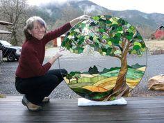Tree of Life More #StainedGlassPainting