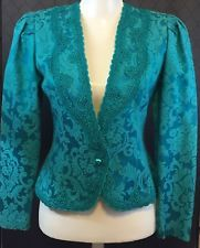 Nah-Nah Collections/Jonathan Tait Turquoise Brocade Dressy Jacket Size 6 #586J