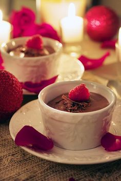 Chocolate and Raspberry Pot de Crème