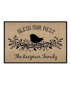 'Bless Our Nest' Personalized Doormat