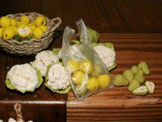 CASAS DE MUÑECAS-(TALLER) - TUTORIAL DE Frutas y verduras de NOE