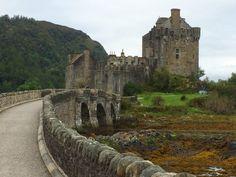 Eilean Donan Castle, on approach early in the morning
