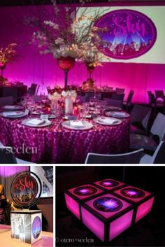 Skyler's Bat Mitzvah was pretty in pink! The X-Quisite team completely transformed espace ny for the big day. No detail was overlooked between the florals, the stage decor, linens, menus, and lighted murals of Skyler. There was even a special lounge for all the kids to enjoy the party! A special thanks to Jeffrey Stillwell from Stillwell Events nyc who helped pull it all together! Thank you Otero+Seclen Photography for getting these great shots from the party and congrats to Sklyer!