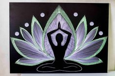 YOGA LIFE ABOUT JOB: Ø76sm (30 inches) Ø 100cm (39,3 inches) ✔ Shapes of canvas - circle ✔ For any other changing choose the custom order, and will get individual work. MATERIALS: Laminated chipboard painted black, nails, rayon SHIPPING: ✔Normally it takes 1-2 weeks to Europe,