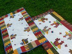 Toalha de mesa em patchwork e aplicações