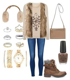 """Winter"" by blkleynen on Polyvore featuring George, Steve Madden, UGG Australia, Topshop, Charlotte Russe and OPI"