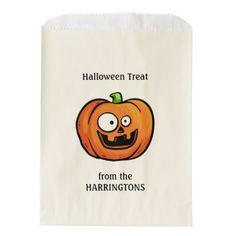 #funny - #Halloween Pumpkin favor bags