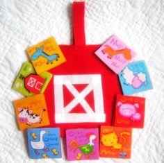 Barnyard Memory Game - Fabric Felt Educational for Children. $18.00, via Etsy.