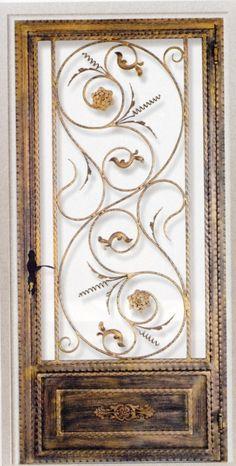 Porte en fer forgé Emma - Porte en fer forgé / style classique ... Plus