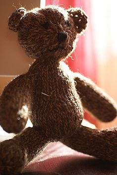knitted teddy bear!