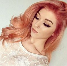 hair, hair color, orange, orange hair, pastels