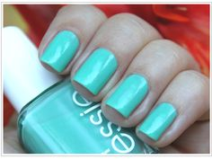 Tiffany Blue :) a. Turquoise & Caicos by Essie Green Nail Polish, Pastel Nail Polish, Essie Nail Polish, Pastel Nails, Green Nails, Nail Polishes, Pretty Nail Colors, Pretty Nails, Tiffany Und Co