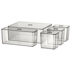 IKEA - GODMORGON Box with lid, set of 5 smoked