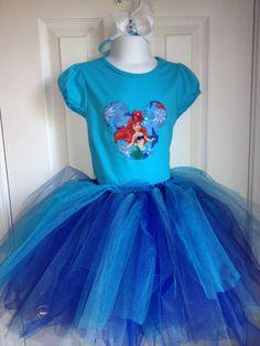 Disney princess Ariel tutu set with hair bow tutu - Samantha picked this one out