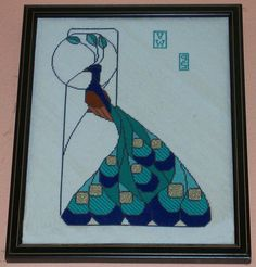 Vanessa Whittemore The attached is a needlepoint picture I did based on a pattern found in the book Art Nouveau Stained Glass Pattern Book by Ed Sibbett Jr.