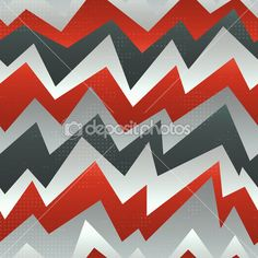 Abstract red zigzag seamless pattern with grunge effect