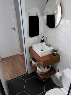 - Best ideas for decoration and makeup - Bad Inspiration, Bathroom Inspiration, Bathroom Design Small, Bathroom Interior Design, Ideas Baños, Lavabo Design, Small Toilet Room, Floating Vanity, Amazing Bathrooms