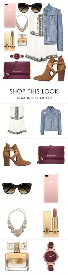 """Untitled #87"" by gissellramirez ❤ liked on Polyvore featuring Topshop, Topman, H London, Michael Kors, Chloé, Chloe + Isabel, Yves Saint Laurent and Givenchy"