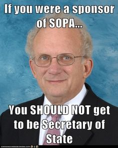 Obama: Don't appoint SOPA architect as next Secretary of State | Demand Progress
