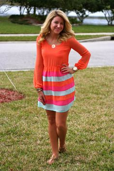 Neon Stripe Dress | Shop Dandy LLC